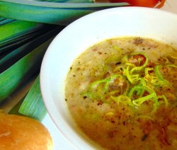 potato bacon leek soup