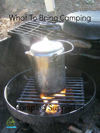 Camping Supply List