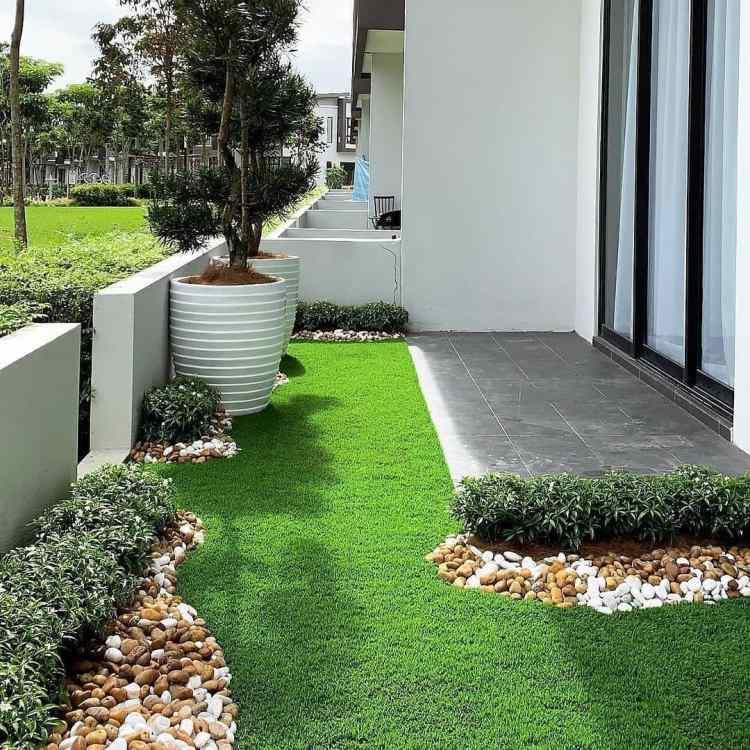 Tampak penerapan konsep taman minimalis, foto: instagram.com