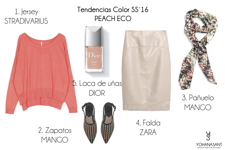 tendencias color ss16 PEACH ECO personal shopper yohanasant