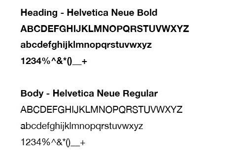 Fonts - Creating a Style Guide