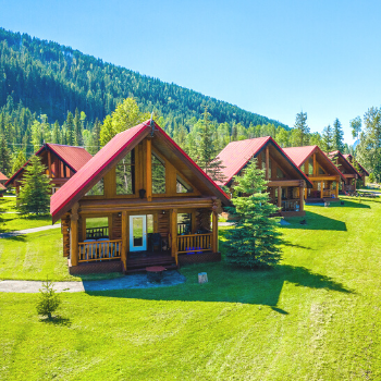 Outdoor view of chalets