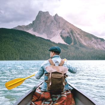 Canoeing at Emerald Lake