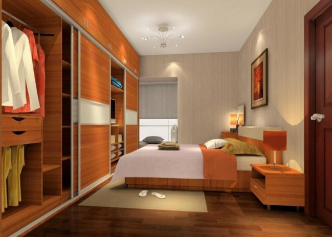 Bedroom-interior-design-with-large-wardrobe