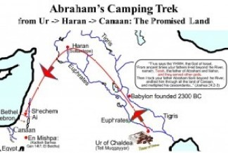 地図 - アブラハムの旅