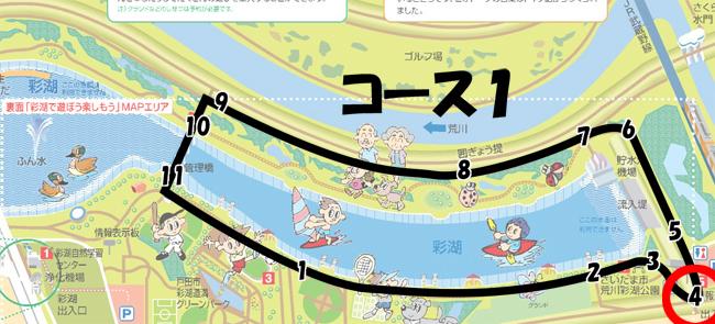 彩湖周回コース1-4
