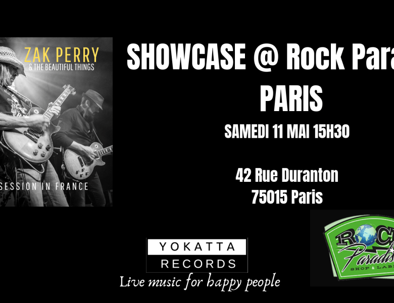 Showcase de Zak Perry à Paris, chez Rock Paradise