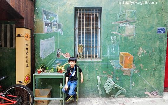 台南新景點》蝸牛巷慢慢走.隱藏於台南中西區巷弄間的可愛景點