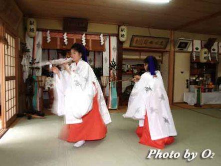 福島町 福島大神宮 松前神楽 練習 八乙女舞