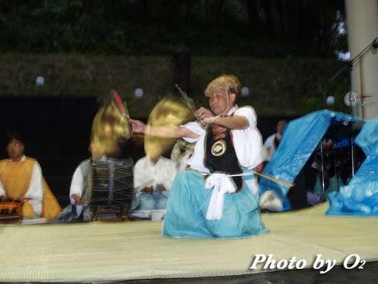 福島町 かがり火コンサート 松前神楽 荒馬舞