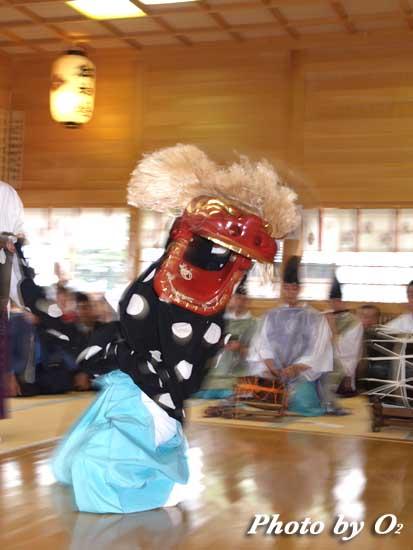 平成18年 鹿部町 鹿部稲荷神社 松前神楽 十二の手獅子舞