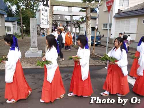 H19 福島大神宮 渡御祭 巫女行列