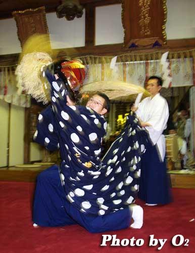 平成19年 小樽市 小樽ブロック合同公演 小樽稲荷神社 十二の手獅子舞・五方