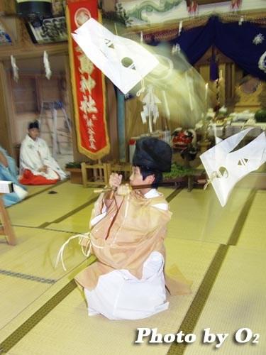 平成20年 北海道 江差町 かもめ島まつり 厳島神社例祭 神楽舞 番楽