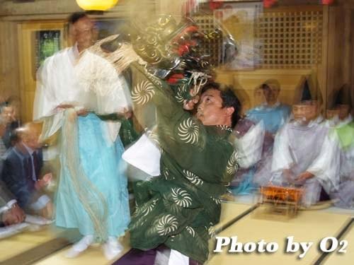 平成20年 函館市 尻岸内八幡神社 松前神楽 十二の手獅子舞・五方