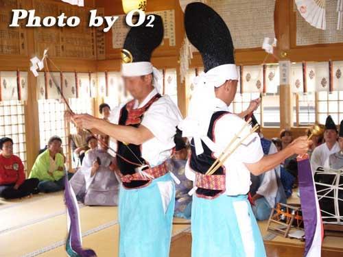 平成20年 鹿部町 鹿部稲荷神社本祭 松前神楽 神遊舞