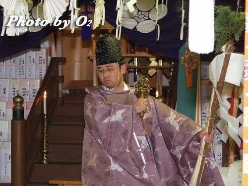 平成20年 北斗市 矢不来天満宮 宵宮祭 松前神楽 榊舞