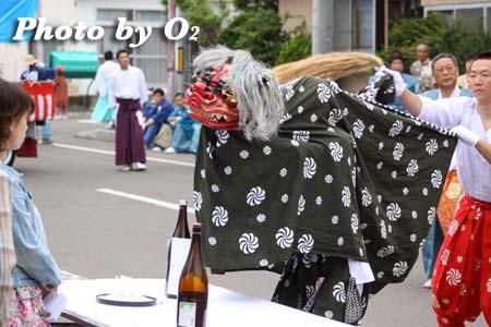 平成21年 古平町 琴平神社例祭 神社行列 獅子舞