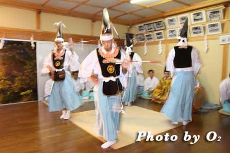 h22 寿都町 寿都神社 宵宮祭 松前神楽 神楽殿 四箇散米舞