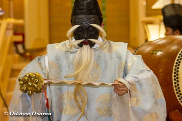 札幌村神社 2013 宵宮祭 神楽舞 三番叟