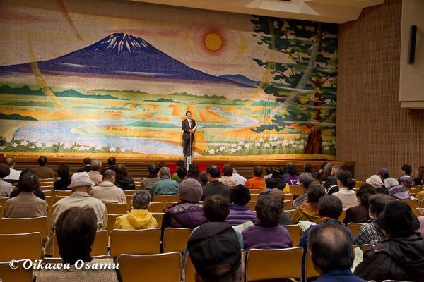松前神楽小樽ブロック保存会合同公演 2013 京極町 挨拶