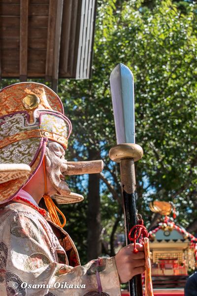 福島町 福島大神宮渡御祭 2日目 神社行列 猿田彦
