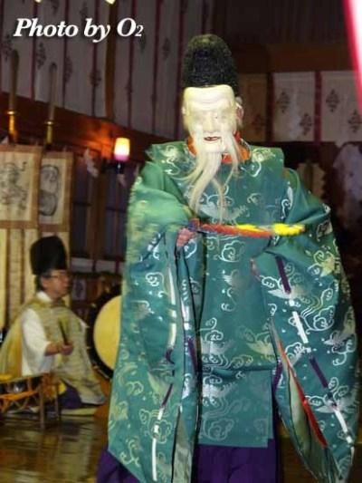 平成19年 北斗市 上磯八幡宮 春神楽 春の祈年祭 松前神楽 翁舞