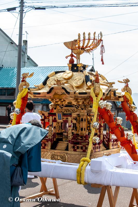 平成30年 古平町 琴平神社 例大祭 渡御祭 神輿前の神事