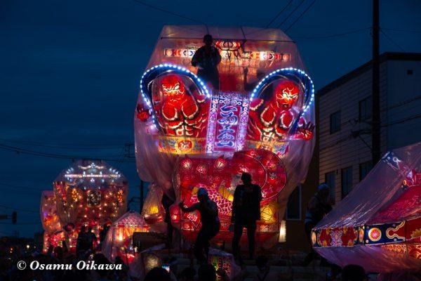 平成30年 沼田町 夜高あんどん祭り 初日 大型あんどん点灯・練行05