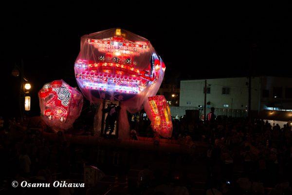 平成30年 沼田町 夜高あんどん祭り 初日 夜高あんどんぶつけあい02