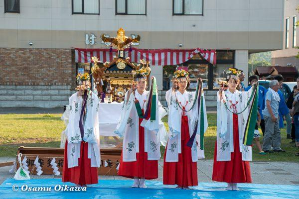 平成30年 美瑛町 美瑛神社渡御祭 駅周辺 浦安の舞