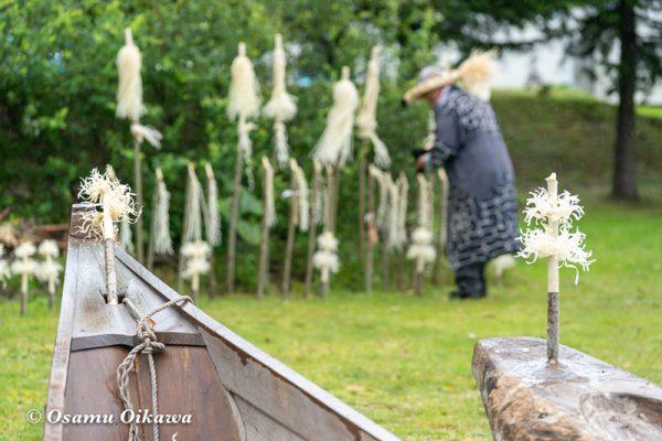 平成30年 平取町 チプサンケ アイヌ民族 祭壇 丸木舟 カムイノミ
