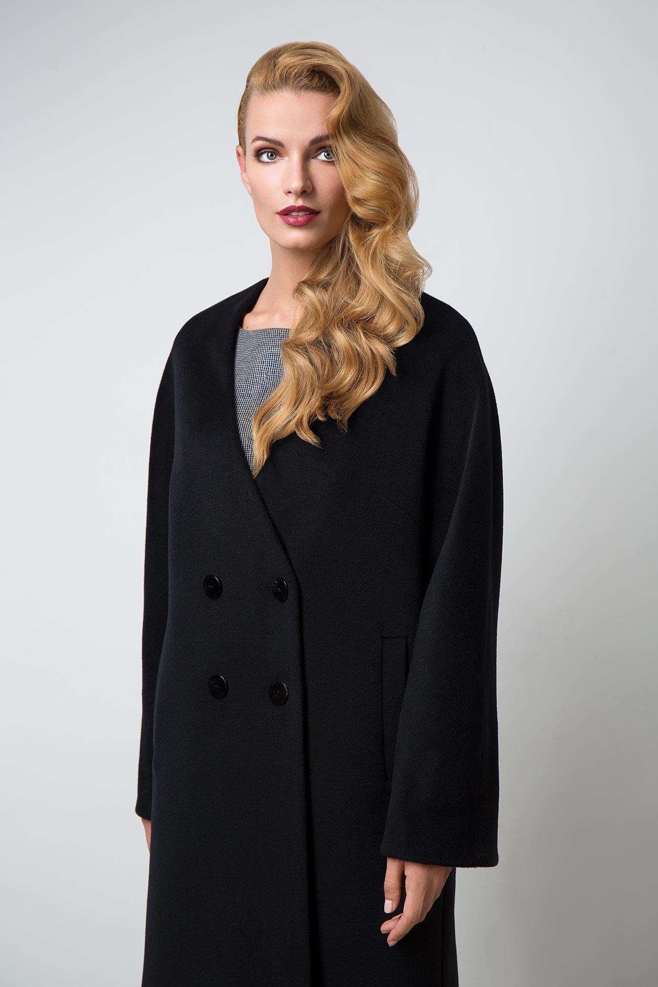 Съемка пальто для рекламы