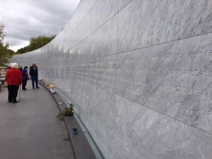 クライストチャーチ Canterbury Earthquake National Memorial Wall