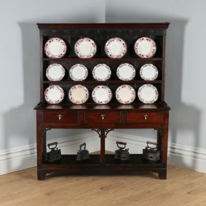 Antique George II Carmarthenshire Welsh Dresser Base & Rack (Circa 1750)