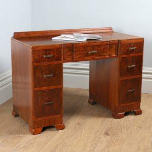 Antique Art Deco Burr Walnut Desk (Circa 1935)