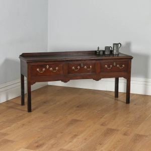 Antique Georgian Shropshire / Cheshire Joined Low Dresser Base Sideboard (Circa 1770)- yolagray.com
