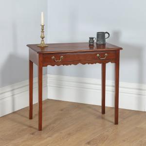 Antique English Georgian Figured Mahogany Occasional Hall Side Table (Circa 1790) - yolagray.com