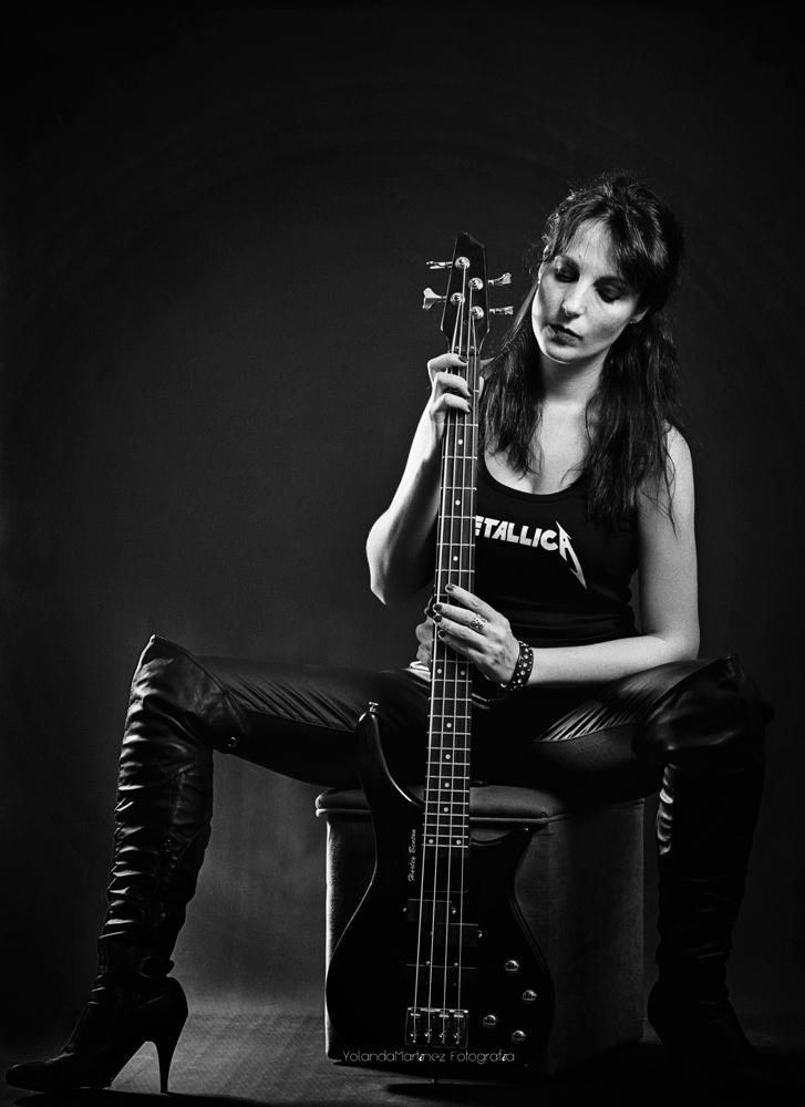 Rock. Fotografía en blanco y negro. Yolanda Martínez