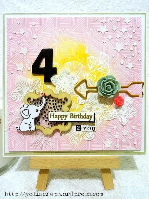 une carte d anniversaire defi loto dt scrap co les creas de yolande