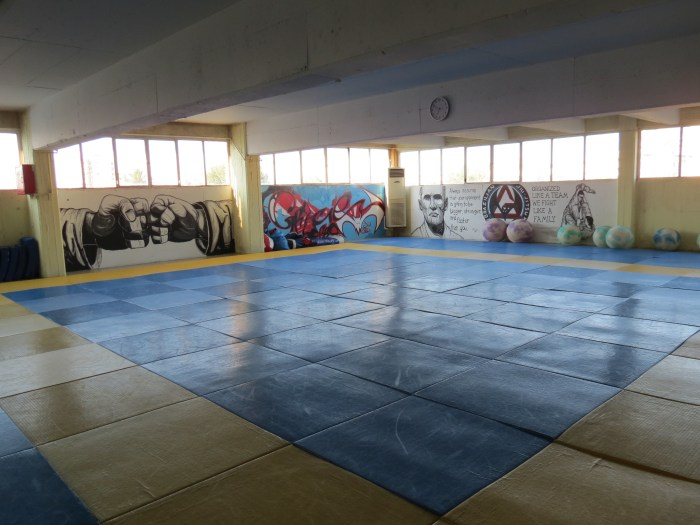 A very nice, spacious Mat-space...hard on the knees though (for us old guys).