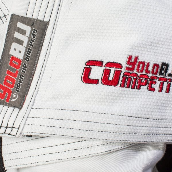 Comp450 BJJ gi white front detail