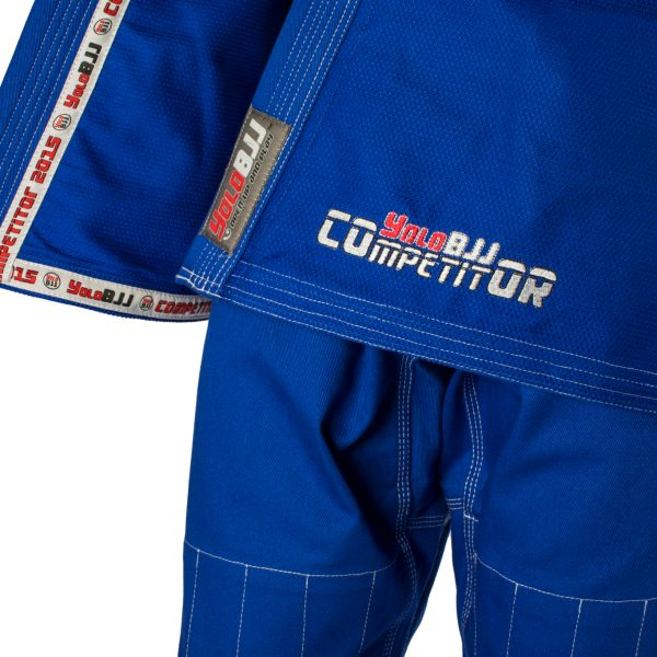 Comp450 BJJ gi Blue front detail