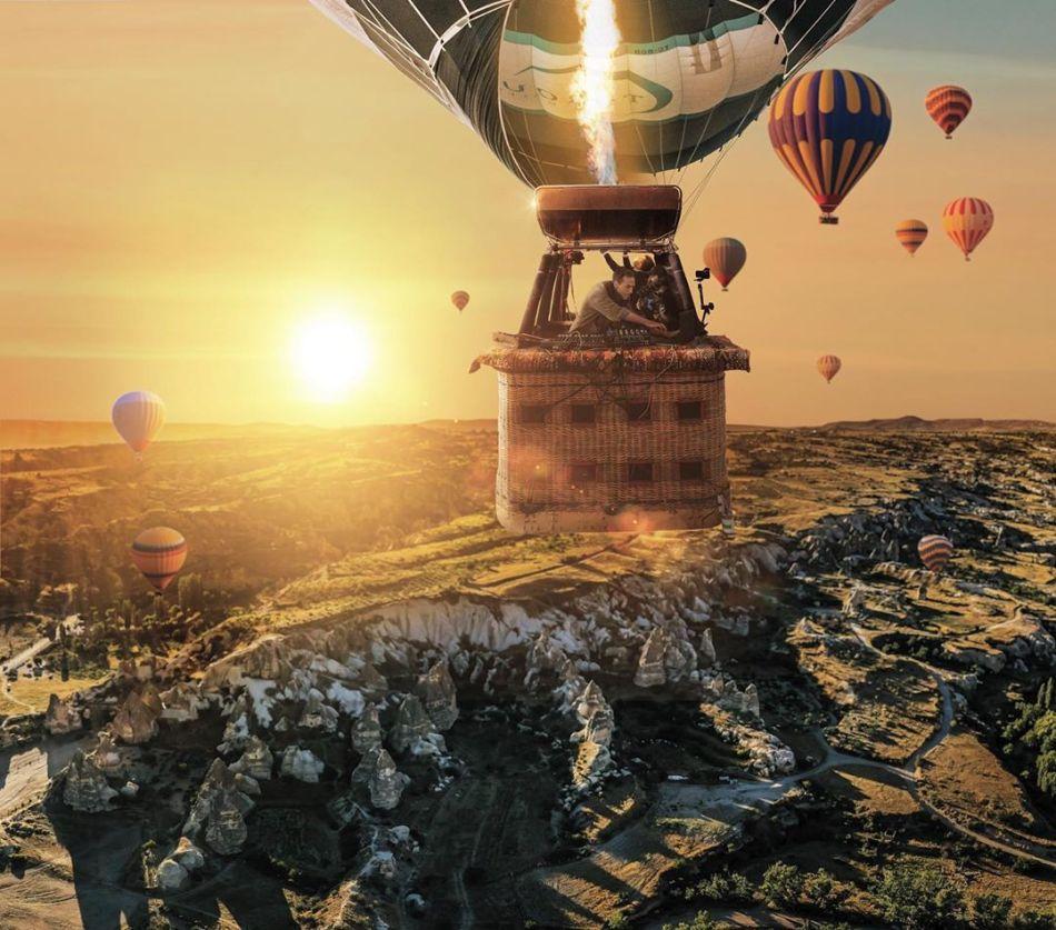 Ben Böhmer 搭上熱氣球在土耳其卡帕多奇亞的奇景上空演出! 5