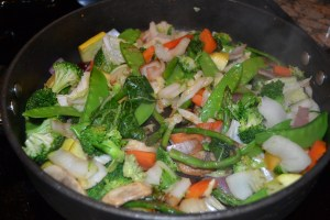 Cooked stir fry