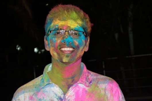 Holi played at work after working hours