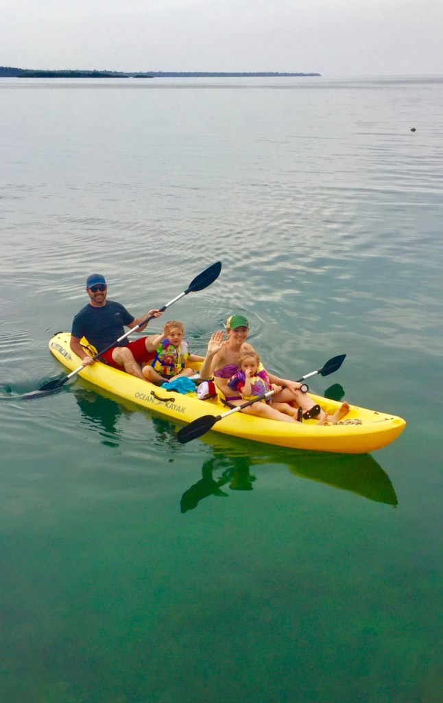 Kayaking in Boca del Toro Panama with kids