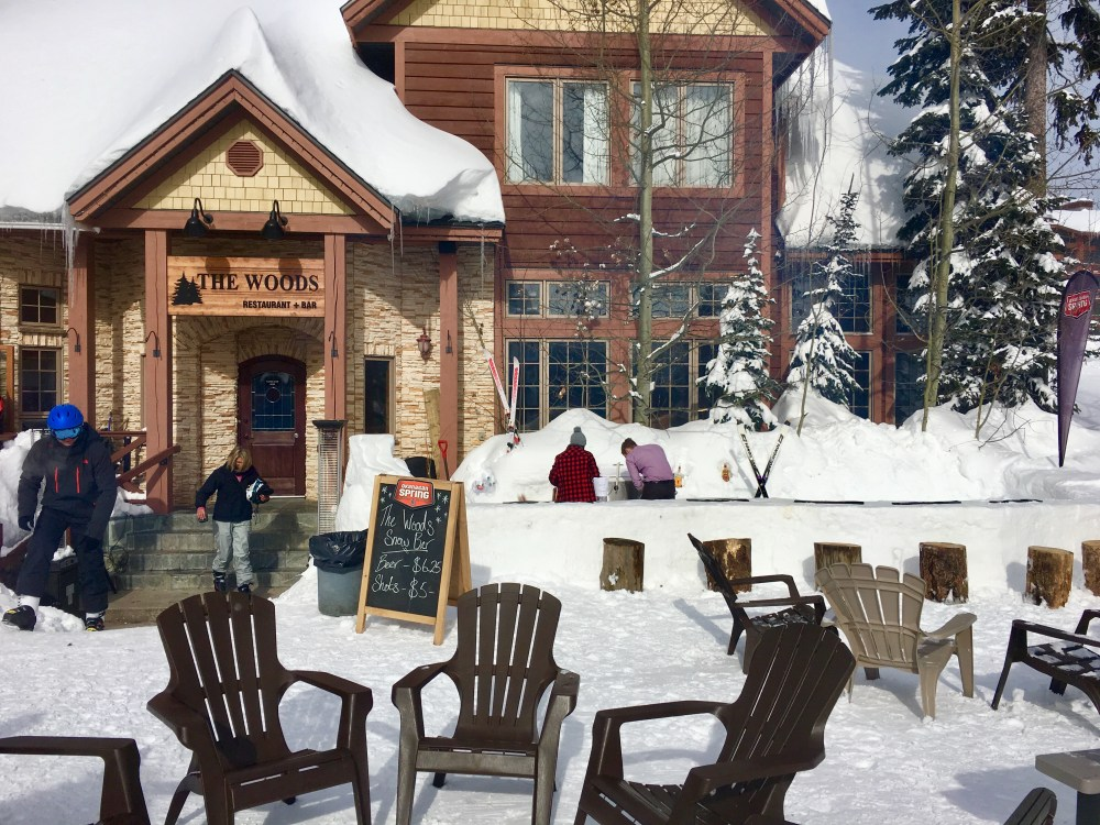 the woods, big white, snow bar
