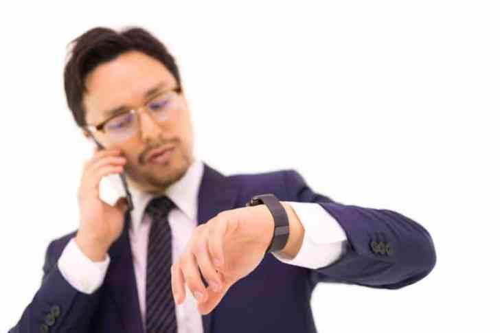 時間のない会社員