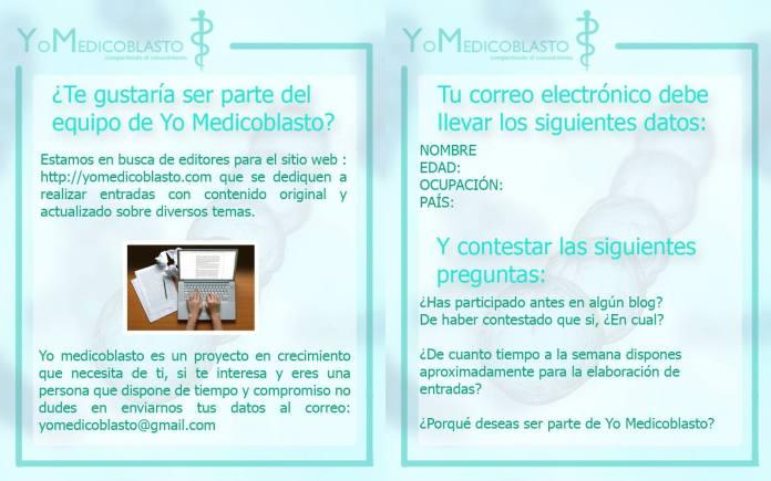 Te gustaría formar parte de Yo Medicoblasto